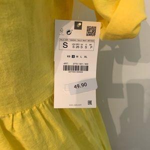 Zara Dresses - Zara Linen Yellow Dress
